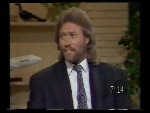 """Barry Gibb """"guests"""" on Today, 1988"""