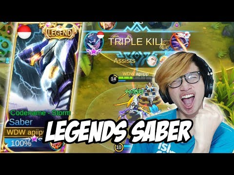 SKIN LEGENDS SABER AKHIR NYA PUNYA ! - MOBILE LEGENDS INDONESIA