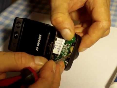 Видеорегистратор Каркам Q4 Gps Снимаем аккумулятор - YouTube