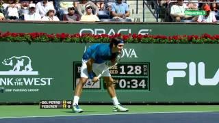 ATP Indian Wells 2012 Q.F - Federer vs Del Potro HD 1080p Highlights