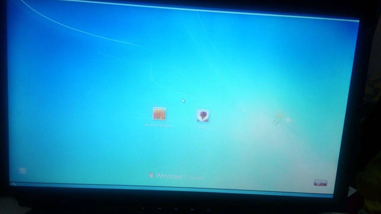 Lenovo Z585 Flickering Problem Youtube