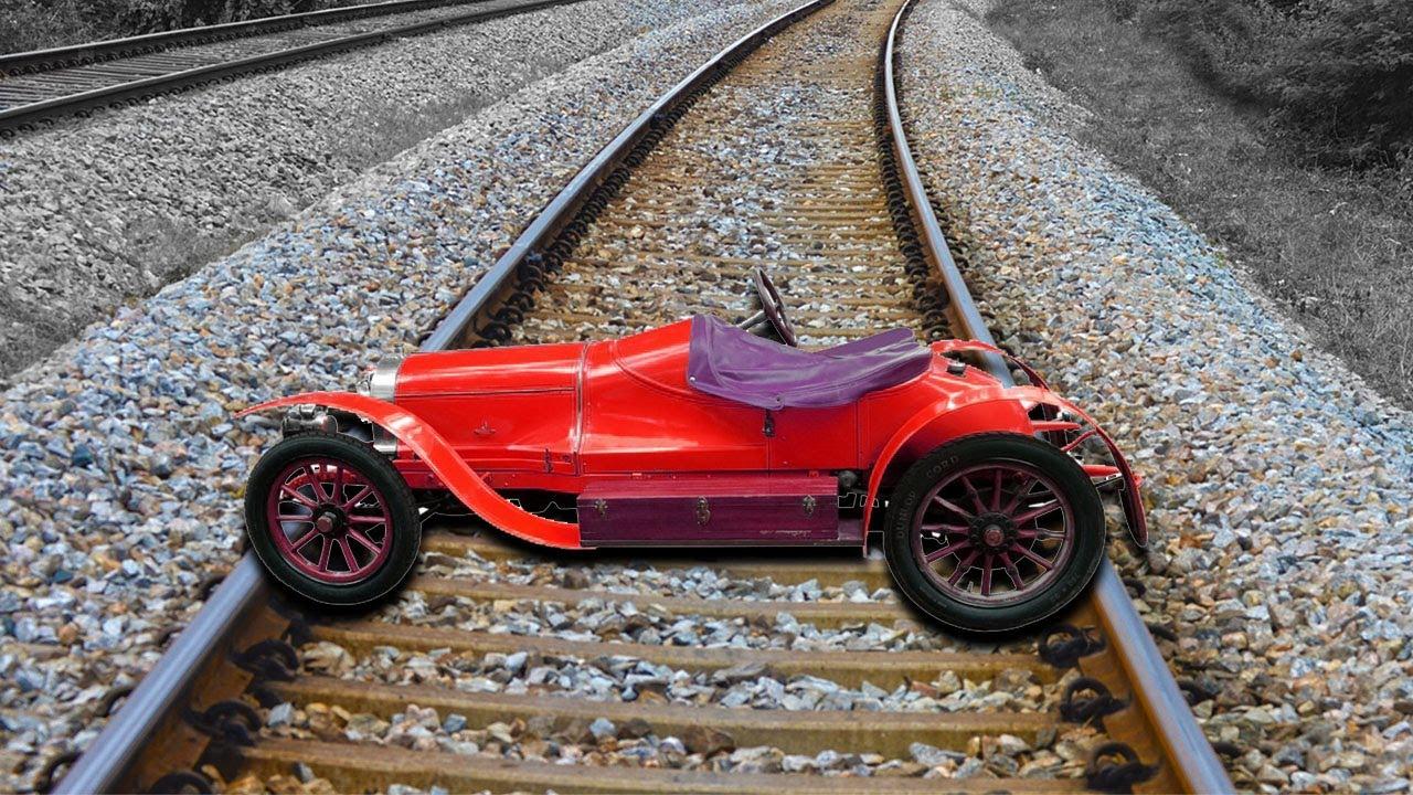 Train Vs Old Rolls Royce Car Test