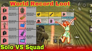 World Record Loot For Solo Player 😯- PUBG Metro Royal chapter 2 Solo VS Squad