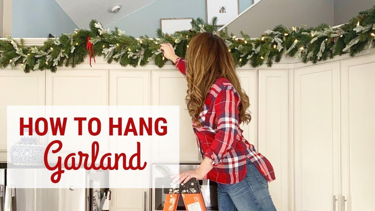 How To Hang Garland Diy Christmas Garland Youtube