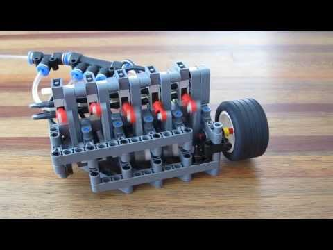 Lego Pneumatic Engine - 5 cylinder inline (small cylinders)
