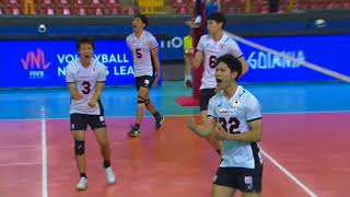 西田有志 Yuji Nishida Japan vs USA FIVB Volleyball Nations League