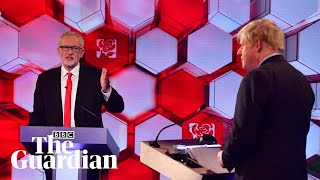 Austerity, racism, the NHS and Brexit: Corbyn and Johnson clash in BBC debate