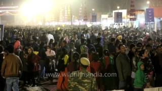 View of crowd/visitors at Manipur Sangai Festival
