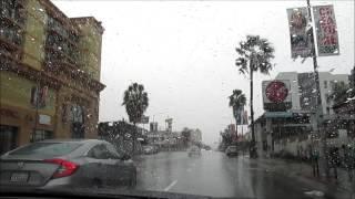 Большое  путешествие по Америке.  Лос Анджелес на автомобиле. Голливуд бульвар.(Продолжается наше большое путешествие по Америке.Мы осматриваем Лос Анджелес из окна автомобиля. Сегодня..., 2017-02-05T20:27:57.000Z)