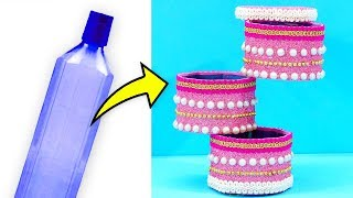 Simply Amazing!! Don't Miss This Unique DIY Plastic Bottle Jewellery Holder   Easy Best Out Of Waste