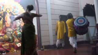 dhak and arati performance during 2012 durga puja in dhubri