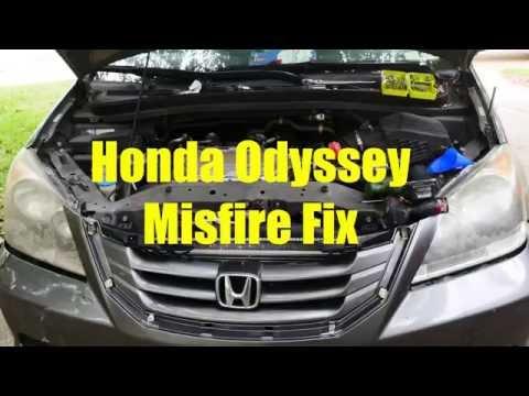 Honda Misfire Check Engine Light Flashing TSA Light On Fix Part 1 Odyessy