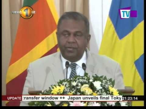 SL, Sweden's Foreign Affairs Ministers to strengthen partnership between countries