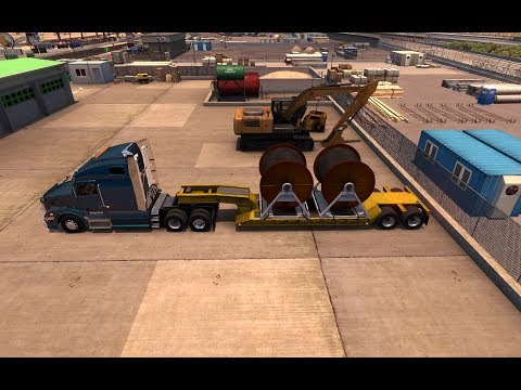 American Truck Simulator Ep 074 Cables from Los Angeles (CA) to Santa Maria (CA)