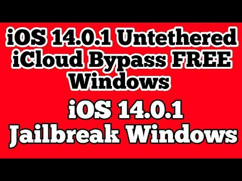 FREE iOS 14.0.1 untethered icloud bypass iOS 14.0.1 jailbreak Windows