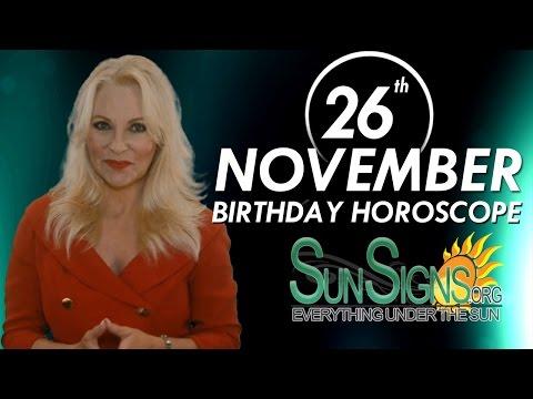 Birthday November 26th Horoscope Personality Zodiac Sign Sagittarius Astrology