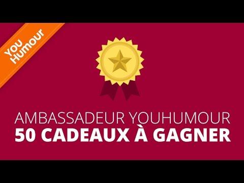 Ambassadeur YOU HUMOUR - 50 Cadeaux à gagner