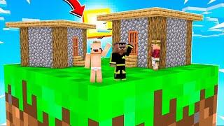 KEKO İLE TEK BLOKTA KÖY YAPTIK ! 😱 - Minecraft