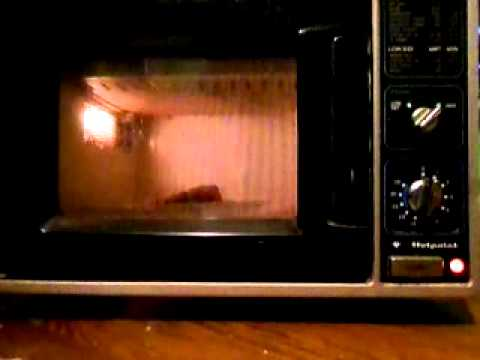 Vintage Hotpoint Microwave Oven Heating 1 Porkchop Youtube