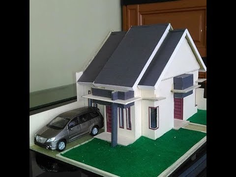 Tutorial Membuat Miniatur Rumah Minimalis Type 45  YouTube