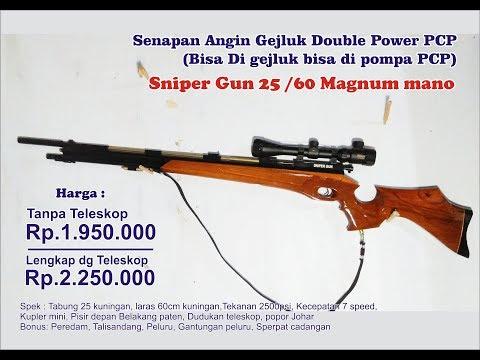 Spesifikasi Senapan Angin Gejluk Double Power PCP Sniper Gun Popor Model Magnum