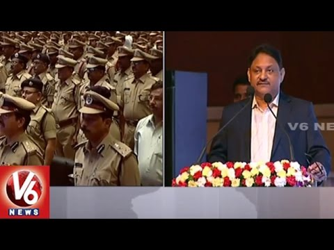Telangana CS SP Singh Addressing At State Police Officers Conference | V6 News