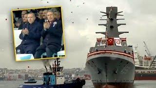 Türkiye'nin ilk istihbarat gemisi denize böyle indirildi