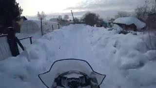 На снегоходе в магазин Русская механика вектор 551, RM Vector 551i, Тайга Русская механика