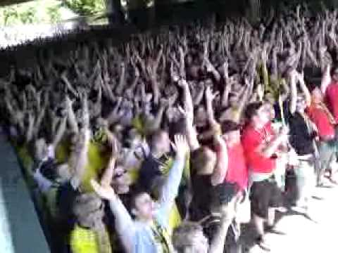 Preusen Münster - Borussia Dortmunds Amateure 2:2 30.05.09 Aufstiegsmarsch im Tunnel