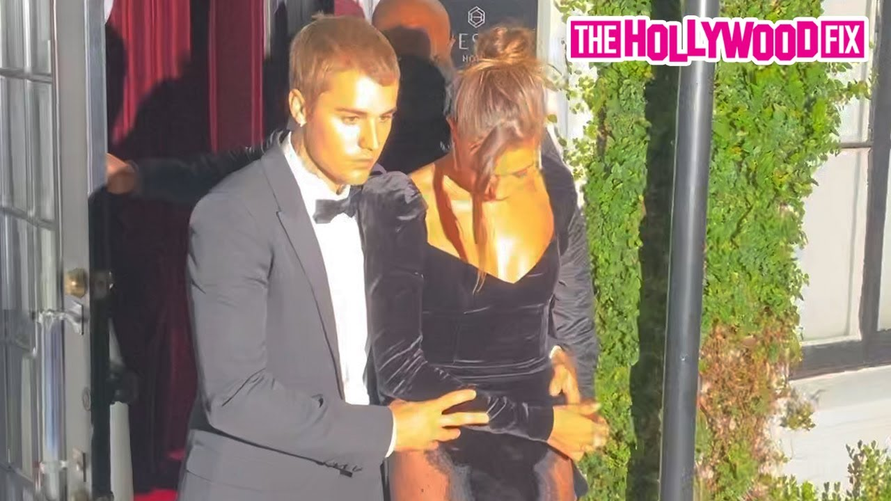 Justin & Hailey Bieber Get All Dressed Up To Visit The 'Freedom Art Experience' Gallery In WeHo
