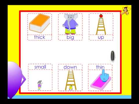 Kindergarten - opposites worksheet - YouTube
