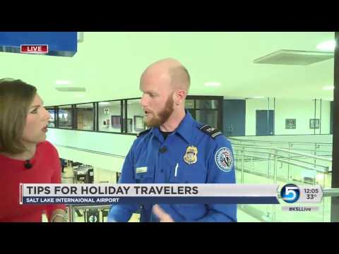 Salt Lake International Airport officials are helping travelers prepare for the holiday rush