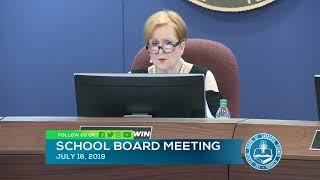 Sarasota County Schools Board Meeting  7 16 2019