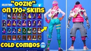 """NEW """"OOZIE"""" BACK BLING Showcased With 170+ SKINS! Fortnite Battle Royale (BEST OOZIE COMBOS)"""