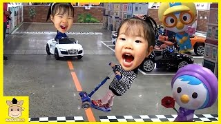 Indoor Playground Fun for Kids and Finger Family Play Car drive Colors Ball | MariAndKids Toys
