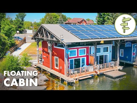 This Floating Tiny Cabin is the Perfect Waterfront Escape - Full Tour