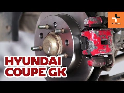 How to replace rear brake discs and brake pads Hyundai Coupe GK TUTORIAL AUTODOC