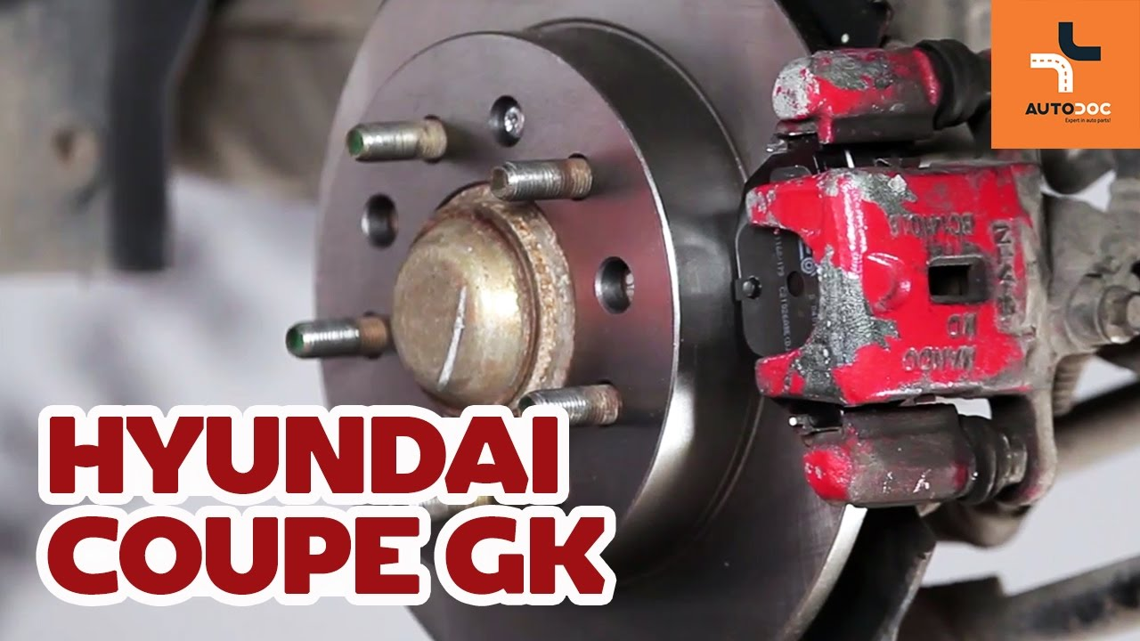 How To Replace Rear Brake Discs And Pads Hyundai Coupe Gk Disc Diagram For Pinterest Tutorial Autodoc