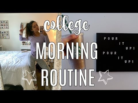 COLLEGE MORNING ROUTINE 2018: EARLY CLASSES