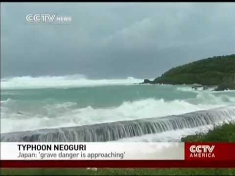 Typhoon Neoguri Grave danger is approaching