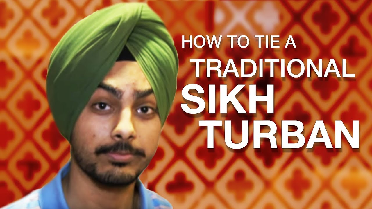 b98e9df2 How to tie a traditional Sikh turban - YouTube