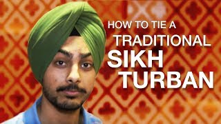 How to tie a traditional Sikh turban