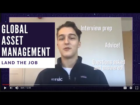 Global Asset Management Analyst - Land the Job