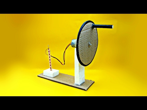 How To Make A Electric​ Generator (Hand Operated) At Home