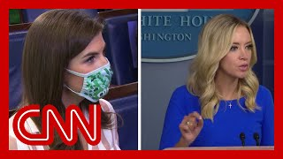 CNN reporter has tense exchange with McEnany over Proud Boys