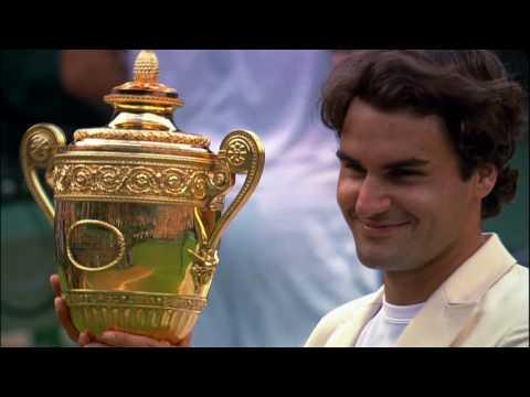 Federer Winning Wimbledon 7 Times Montage
