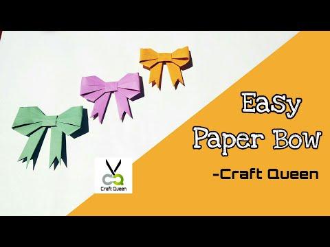 DIY Easy Paper Bow | Craft Queen
