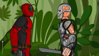 Jason X vs Deadpool - Drawing cartoons 2