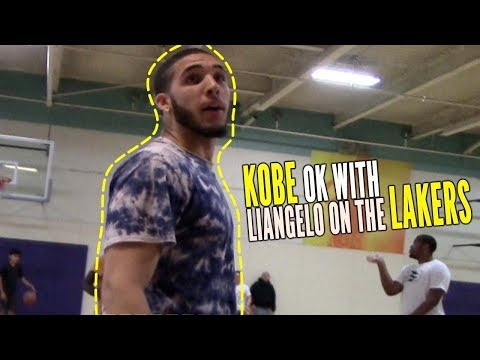 Liangelo Ball Finds out Kobe Bryant Is OK with Him on the Los Angeles Lakers.. LaMelo Ball Reaction