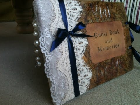 Book Binding - How To Make A Wedding Guest Book